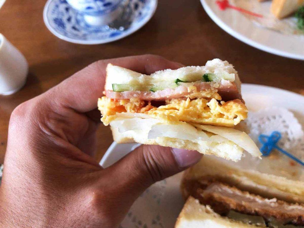ル・モンドの卵焼サンド